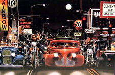 Sunset Blvd. Hell's Angels David Mann art print 2