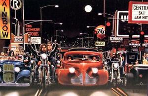 Sunset Blvd. Hell's Angels David Mann art print 2
