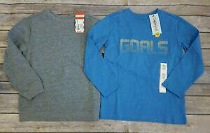 Cat & Jack Boys XS 4-5 Sweatshirt & Long Sleeve Graphic T-Shirt Tee LOT