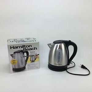 Hamilton Beach 40880 Stainless Steel Electric Kettle 1.7-Liter Silver Tea Coffee