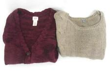 Lot of 2 Women's Cable Knit Thick Warm Sweaters Shrug Charlotte Russe Mossimo XS