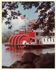 Vintage Color Press Photo Steamboat Delta Queen Steam Boat American Flag kg