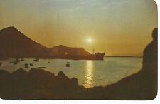 Manzanillo Colima Mexico at Sunset Postcard 1960s