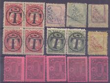17/12.TURKEY,POSTAGE DUE,TAX & NEWSPAPER ST.LOT,RED & BLUE HANDSTAMPS,MNH,USED