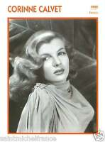 CORINNE CALVET ACTRICE ACTRESS FICHE CINEMA FRANCE 90s