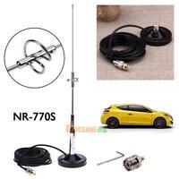 770S Antenne +Magnethalterung UHF-M Kabel + Stecker für Auto-Mobilfunk Radio Hot