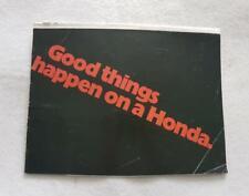Gama de Honda mercado de Estados Unidos folleto de ventas de la motocicleta 1974 Suplemento Cycle World