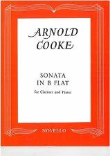 Arnold Cooke - Sonata in Bflat Clarinet & Piano - Novello - NOV120130NZ *** SALE