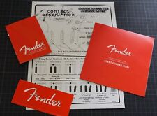 FENDER STRAT SSS American Deluxe Control Description and Fender Red Accessory