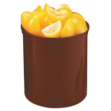 Cambro Plastic Round Crock With Lid Reddish Brown, 1.2 qt.