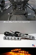 Motorcycle LED TURN Signal Blinker Rear Front Peg Gsxr CBR FZ-07 Scrambler