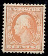 US #336, 6¢ red orange, og, LH, XF