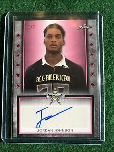 2020 Leaf Metal All American Bowl Jordan Johnson Autograph Shimmer #1/2