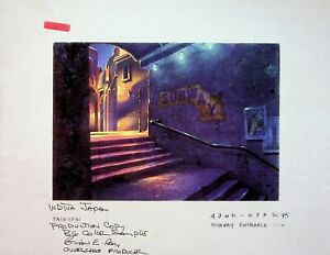 Disney's TALESPIN 1989 BRIAN RAY Signed PRODUCTION BACKGROUND COPY Disney