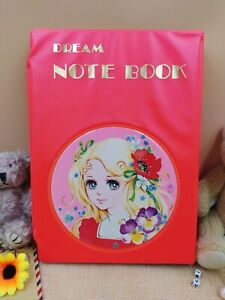 Showa Retro Notebook Stationery Vinyl Case Pop Charm Dream Notebook Set Rare