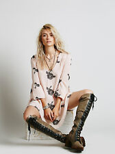 150650 New $148 Free People Embroidered Emma Austin Peach Tunic Dress Small S