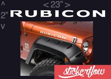 "2- 23"" RUBICON Jeep Hood Decal Set Stickers Fender CJ YJ TJ JK"