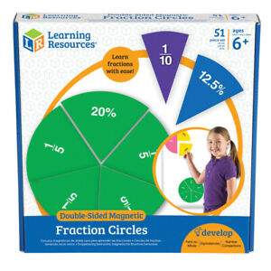 Learning Resources - Double Sided Magnetic Fraction Circles - 9 Circles