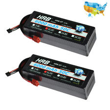 2pc HRB 11.1V 3S 6000mAh 50C Deans Plugs Hard Case LiPo Battery for RC Truck Car