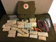 Authentic Soviet Russian Army Medic Bag Case Red Cross, 1950s