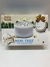 Guru Nanda Essential Oil Fan Diffuser Mini Tree White SEALED-Great Gift!