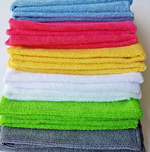 Large Microfibre Cleaning Cloths Bathroom Polish DustersTowels Microfiber 250gsm