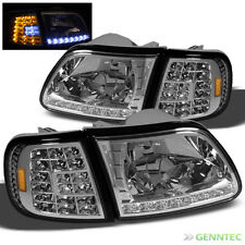 For 97-02 Expedition+97-03 Ford F150 LED Headlights+LED Corner Head Lights