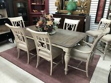 Kincaid Weatherford Canterbury Rustic Farmhouse Dining Table & 6 Chairs Set