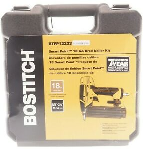 👀 NEW Bostitch BTFP12233 Smart Point 18 Gauge Brad Nailer Sealed with Case 👀