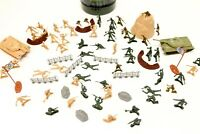 Toy Army Soldiers 72 Piece Military Figures & Accessories Battlefield Set