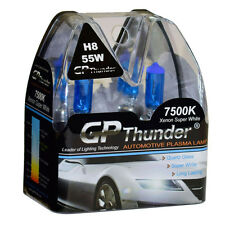 GP Thunder II 7500K H8 Xenon Halogen Light Bulb 55W Super White 2-Bulbs New