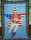 Tapestry Wall American Flag Star Football Player Throw Vintage New