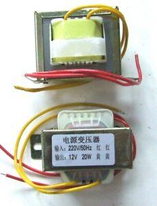 12 VOLT TRASFORMATORE DI CORRENTE 220 VOLT 50 Hz  A 12 VOLT 20 WATT