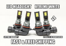 Factory Fit LED Headlight Bulb for Geo Prizm High & Low Beam 1993-1997 Set of 4