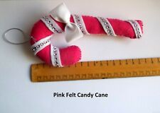 """HAND-CRAFTED FELT  CHRISTMAS """"CANDY CANE""""  DECORATION"""