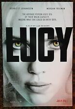 LUCY Movie Poster 27x40 2-Sided Authentic Scarlett Johansson