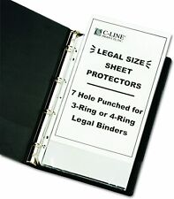C Line Top Loading Heavyweight Poly Sheet Protectors Clear Legal Size