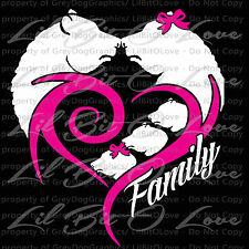 BEAR HEART WITH CUBS FAMILY CUSTOM VINYL DECAL PERSONALIZED TO MATCH YOUR FAMILY