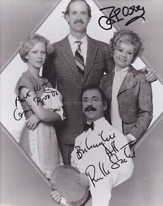 John Cleese Prunella Scales & Connie Booth Hand Signed 8x10 Photo, Autograph