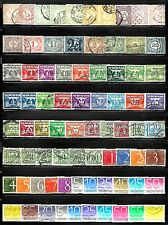 NETHERLANDS Assorted Numeral Stamps Lot of 77