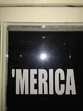 ' MERICA vinyl window sticker car truck decal funny jdm