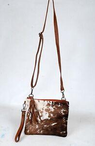 Real Cowhide Cross body Purse Handbag & Shoulder Bag Clutch Cow Leather SB-6958
