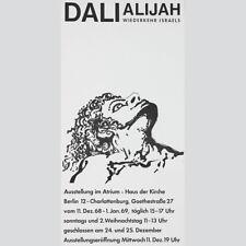Salvador Dali. Alijah Wiederkehr Israels. Ausstellungsplakat Berlin 1968.