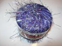 PLYMOUTH glitterlash KNITTING CROCHET YARN SKEIN NYLON CRAFTS 25G purple silver
