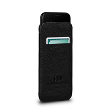 Sena Cases UltraSlim Wallet Leather Sleeve Case for iPhone X & XS (Black)