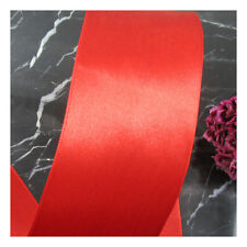 3 METRES 50mm SINGLE SIDED SATIN RIBBON *6 COLOURS* CRAFTS CARDMAKING WEDDING
