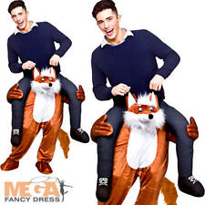 Carry Me Fantastic Fox Adults Fancy Dress Animal Zoo Mens Ladies Mascot Costume