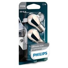 2x PY21W PHILIPS Silver Vision BAU15s 21W 12V Indicateur Ampoules 12496SVB2