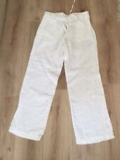 Mens Next White Linen Trousers 32S