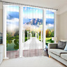 2Panels Window Curtain Great Scenic 3D Blockout Fabric Photo Curtain Drapes 099